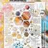 AAll&Create  #99 - A4 STENCIL - Hugely Hexagonal