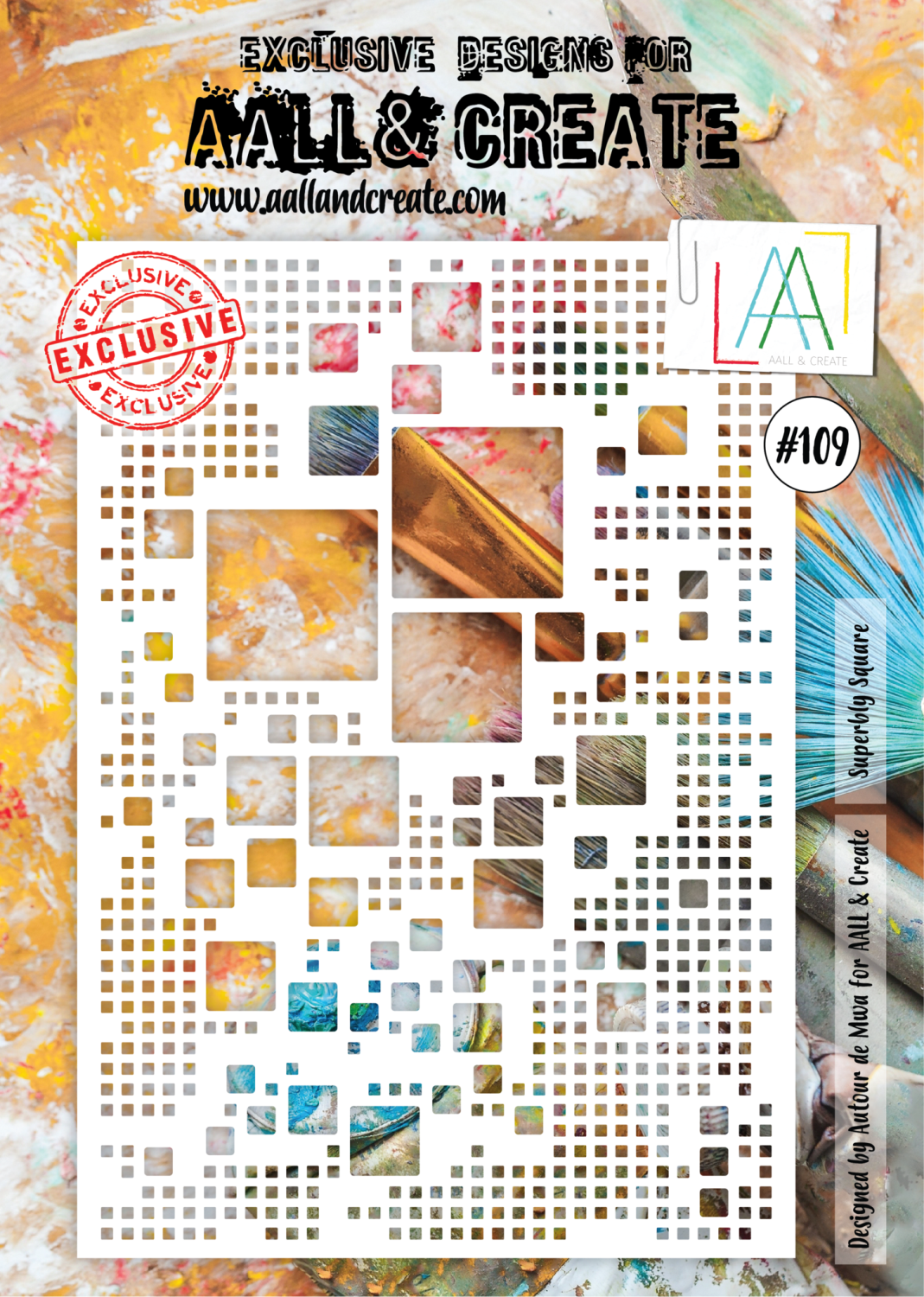 AAll&Create  #84 - A4 STENCIL - Profusion