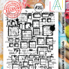 All&Create - #385- A6 STAMP - Scripted Squares