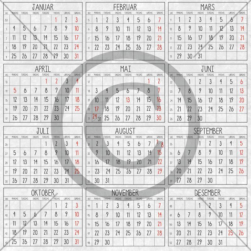 Papirdesign - Kalender - 2021-