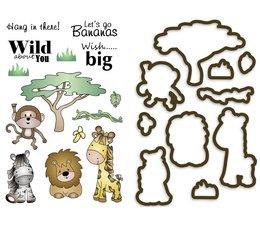 Creative Safari Clear Stamp & Die Set