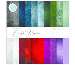 Craft Consortium Essential Craft Papers 6x6 Inch Paper Pad Grunge Dark Tones