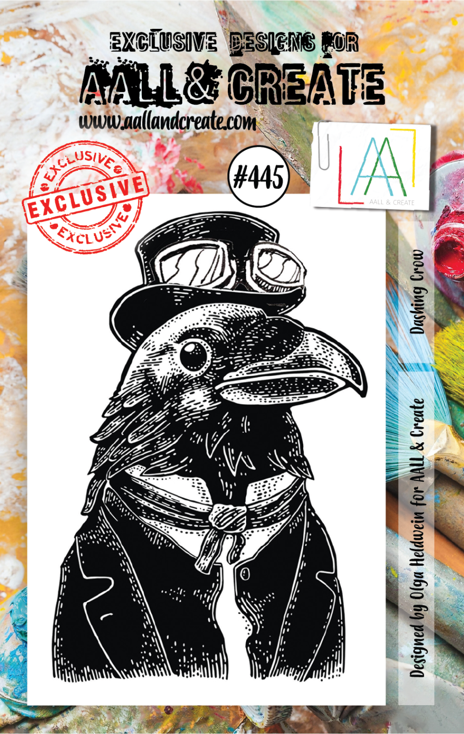 AAll&Create - Dashing Crows- #445-  STAMP -
