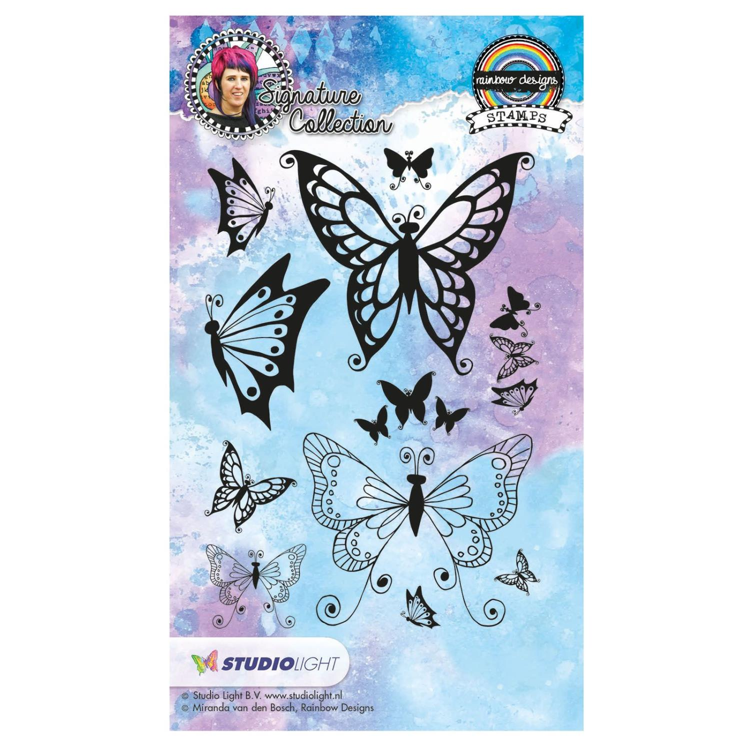 Studio Light clear stamp A6 Rainbow designs signature nr.18