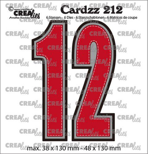 Crealies - Cardzz no- CLCZ212 - Numbers 1 og 2