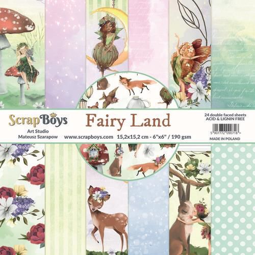 ScrapBoys Fairy Land - paperpad  - 15,2cmx15,2cm