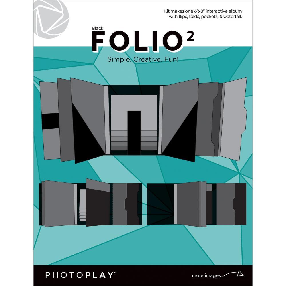 "Photoplay Folio 6""X8 Black"