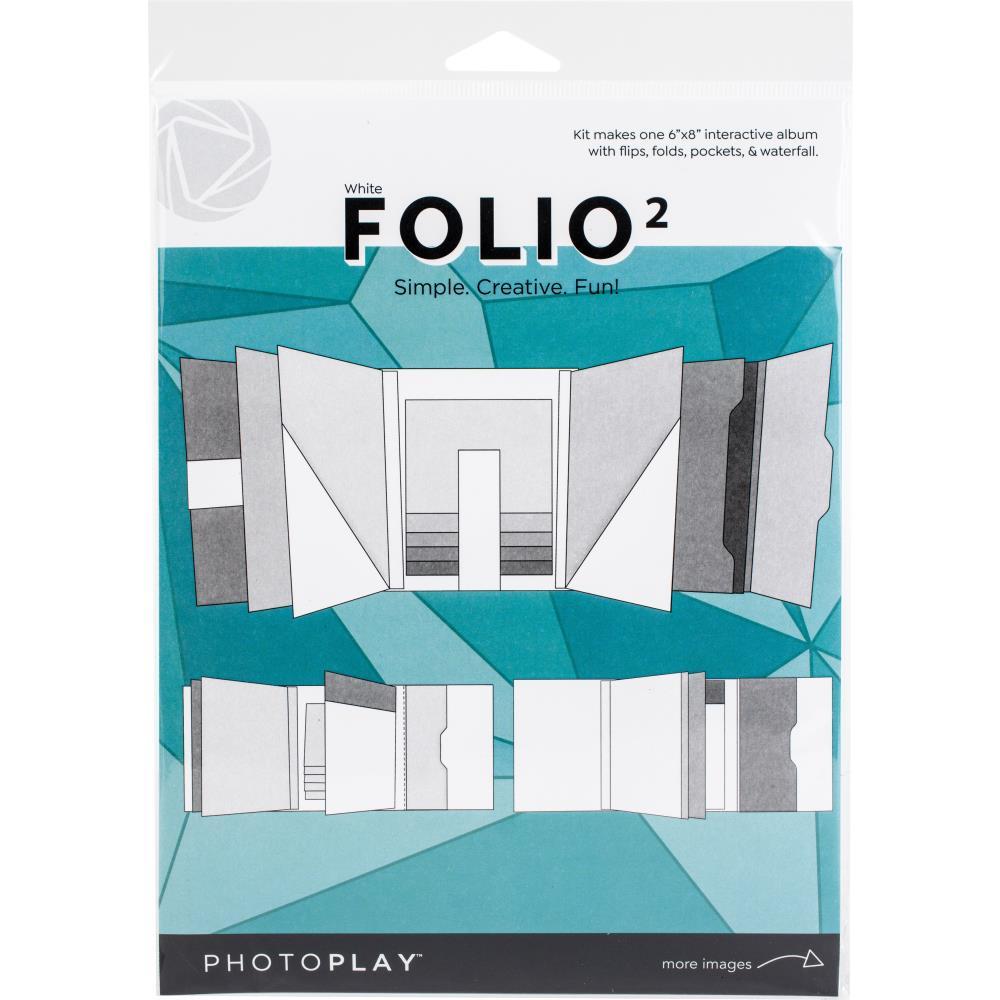 """Photoplay Folio 6""""X8 White"""