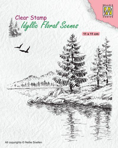 Nellies Choice clearstamp - Idyllic Floral - Wintery water