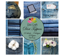Dixi Craft Denim 9x9 cm Toppers