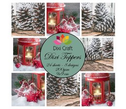 Dixi Craft Toppers Candle & Pinecones - 9 x 9 cm