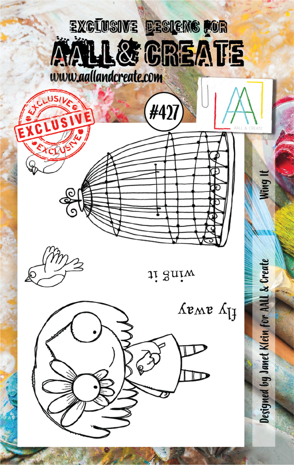 AAll&Create - Wing It- #427- A7 STAMP -