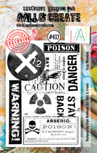 AAll&Create - Toxic Warning- #432- A7 STAMP -