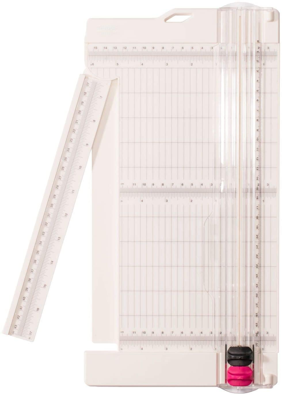 Vaessen Creative • Paper cutter with scoring tool 15x30,5cm pink