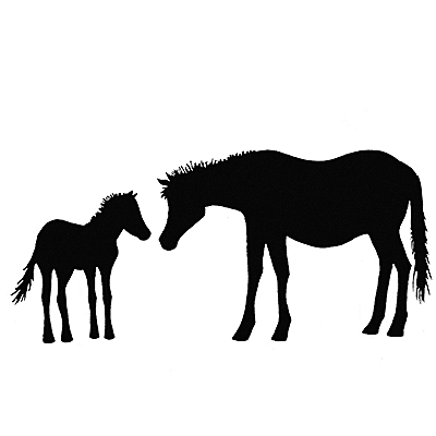 Horse and Foal - LAV006