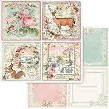 Stamperia - Pink Christmas - Cards