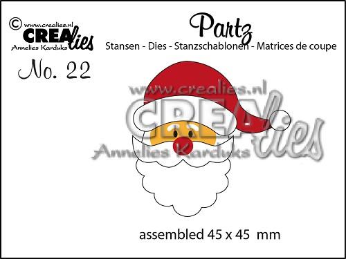 Crealies - Partzz die no. 22, Santa Claus