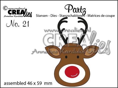 Crealies - Partzz die no. 21, Reindeer
