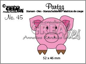 Crealies - Partzz dies no. 45, Pig