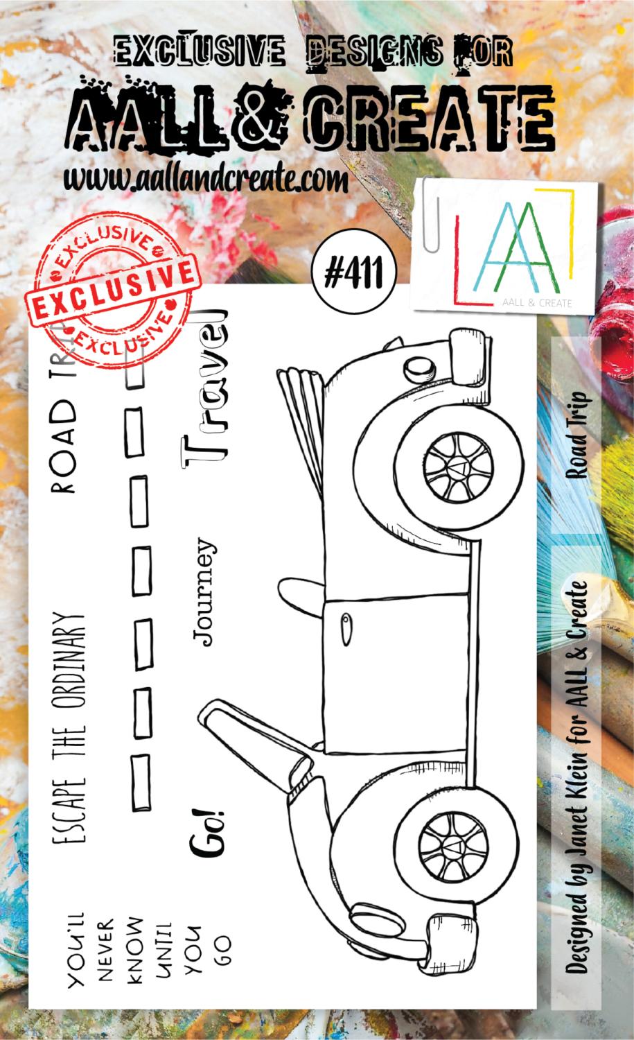 AAll&create - A6 STAMPS - Road Trip - #411