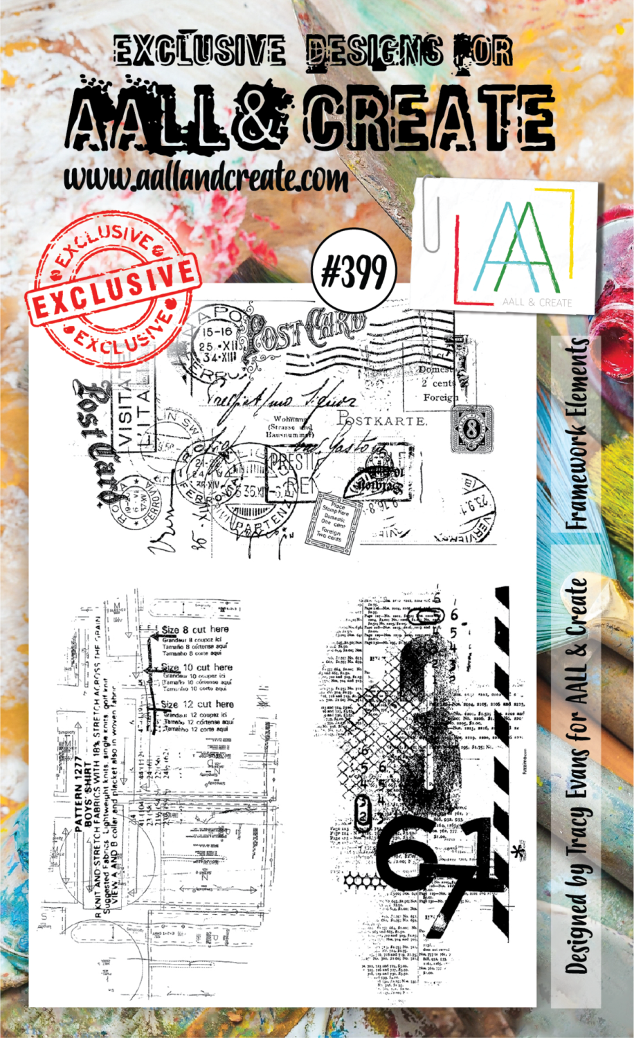 AAll&create - A6 STAMPS - Framework Elements - #399