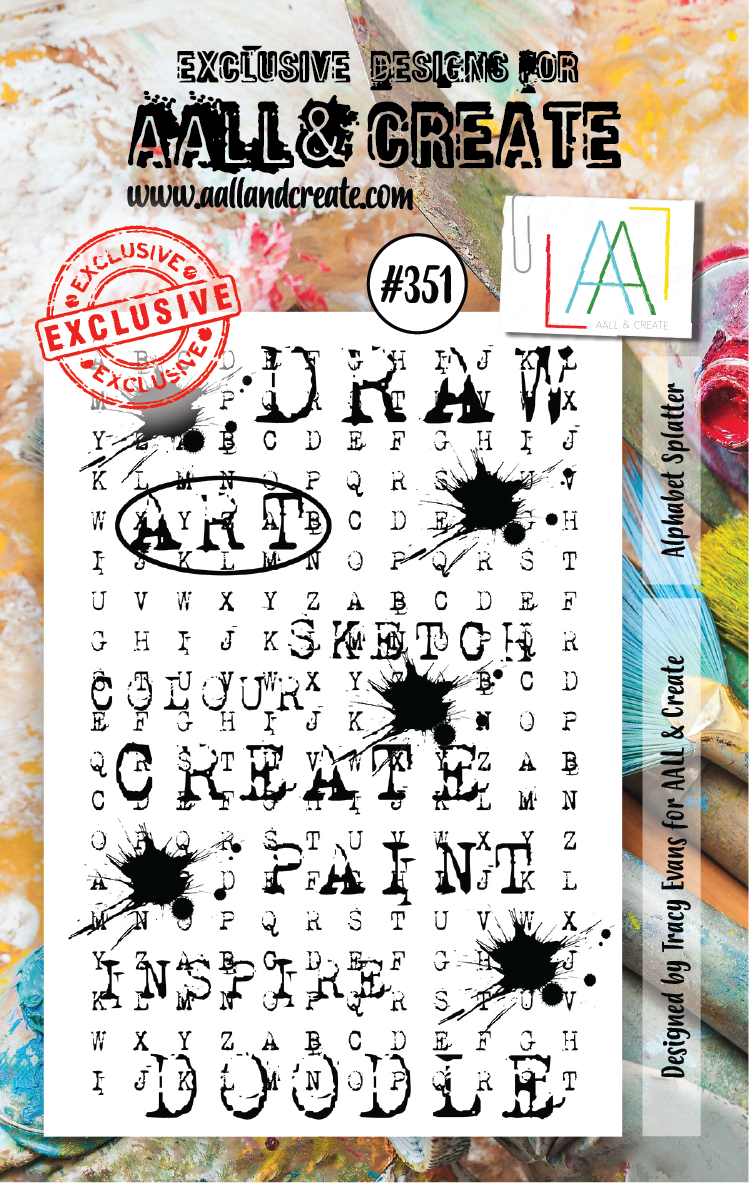 AAll&Create - A7 STAMP - Alphabet Splatter - # 351