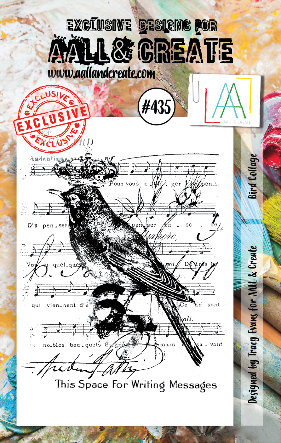 AAll&Create - A7 STAMP - Bird Collage - 435