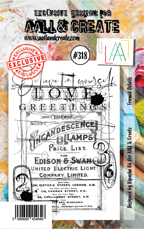 AAll&Create - A7 STAMP - Framed Details - #318