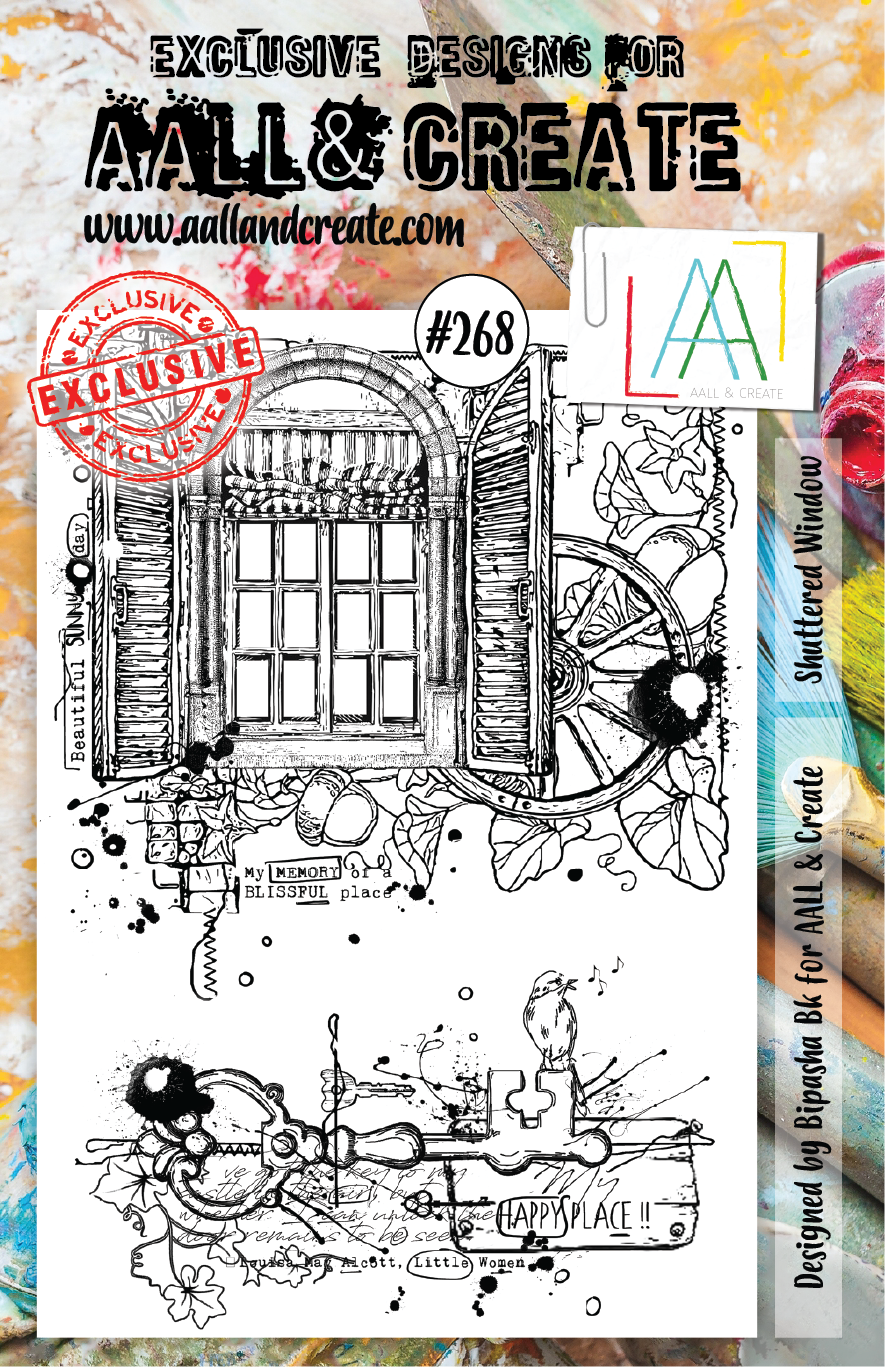 Aall&Create - A5 stempel - Shuttered Window