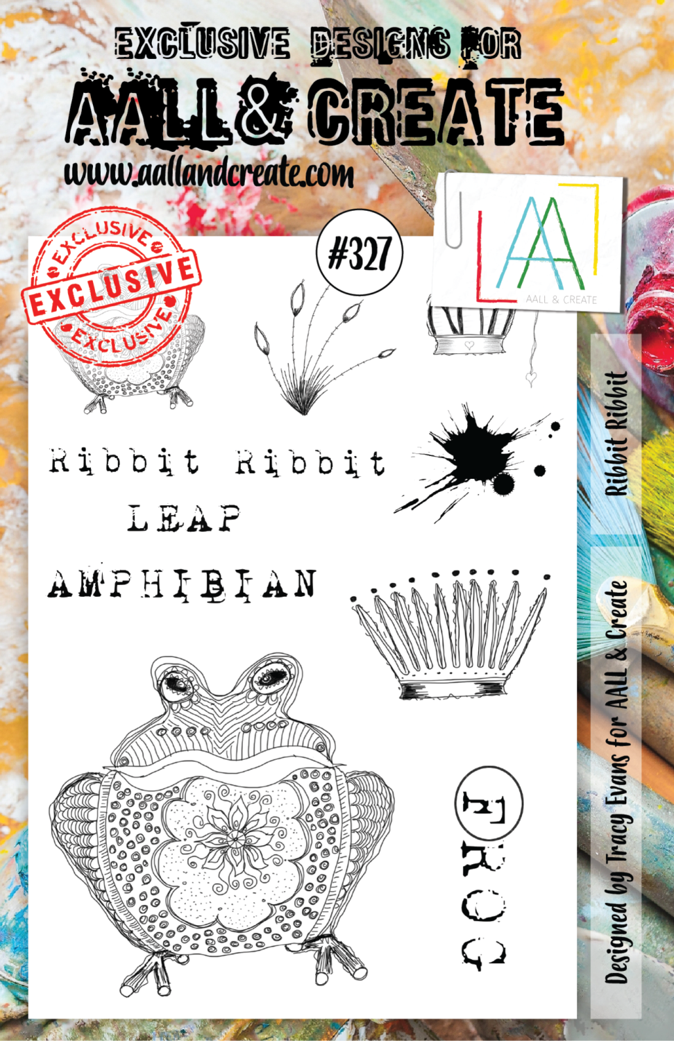 Aall&Create - A5 stempel - Ribbit Ribbit - #327