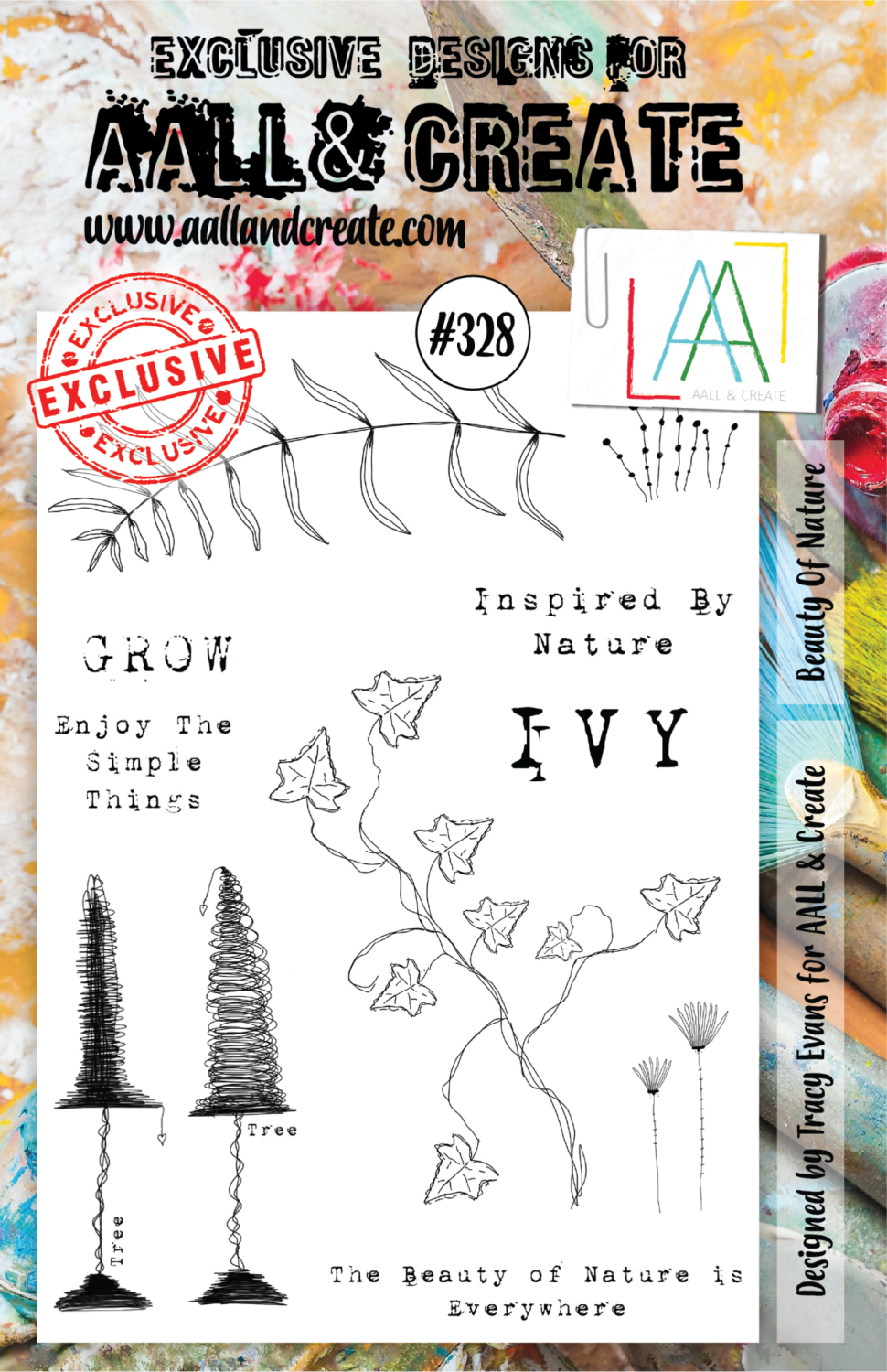 Aall&Create - A5 stempel - Beauty of Nature - #328