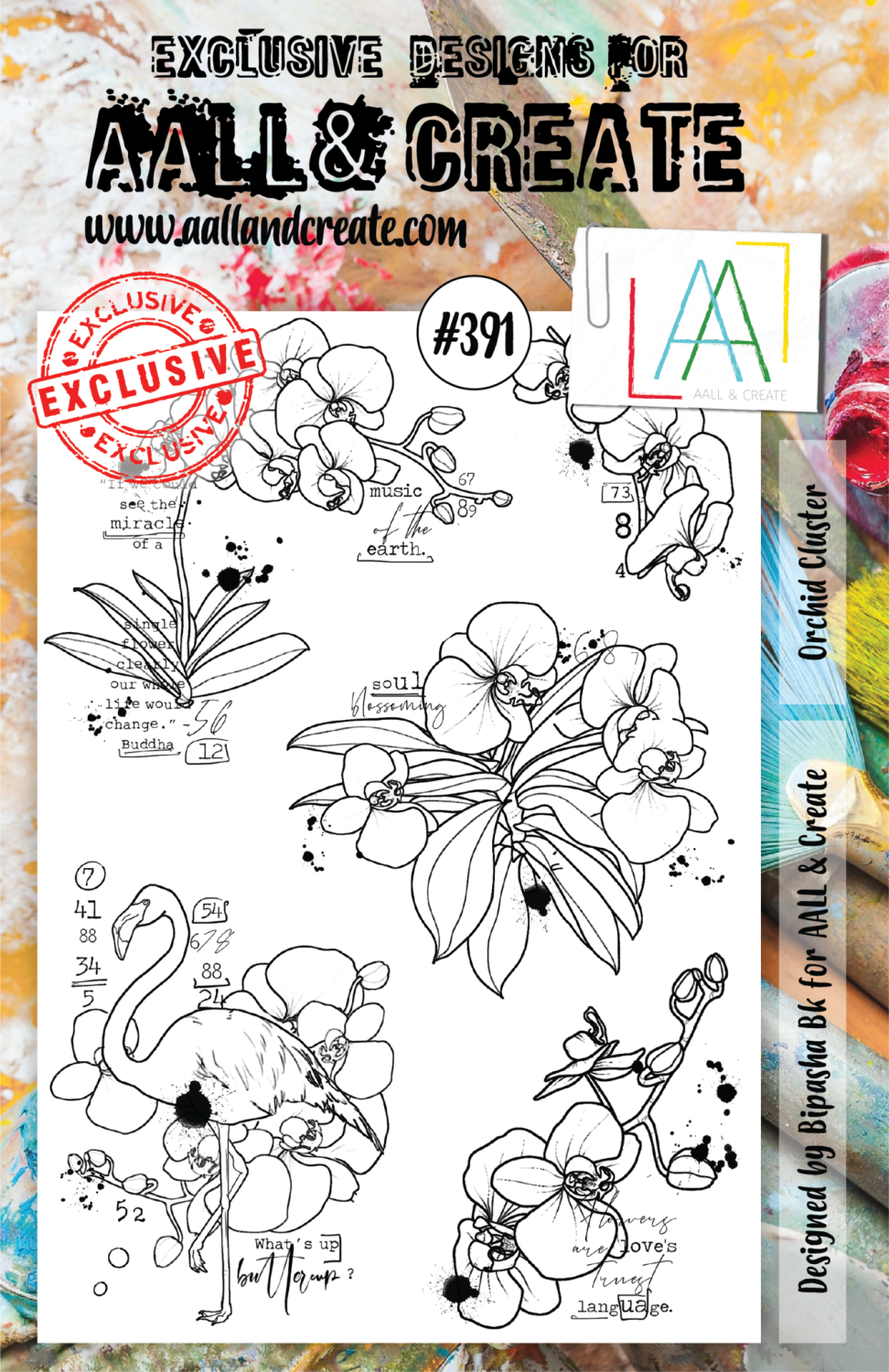 Aall&Create - A5 stempel - Orchid Cluster - #391