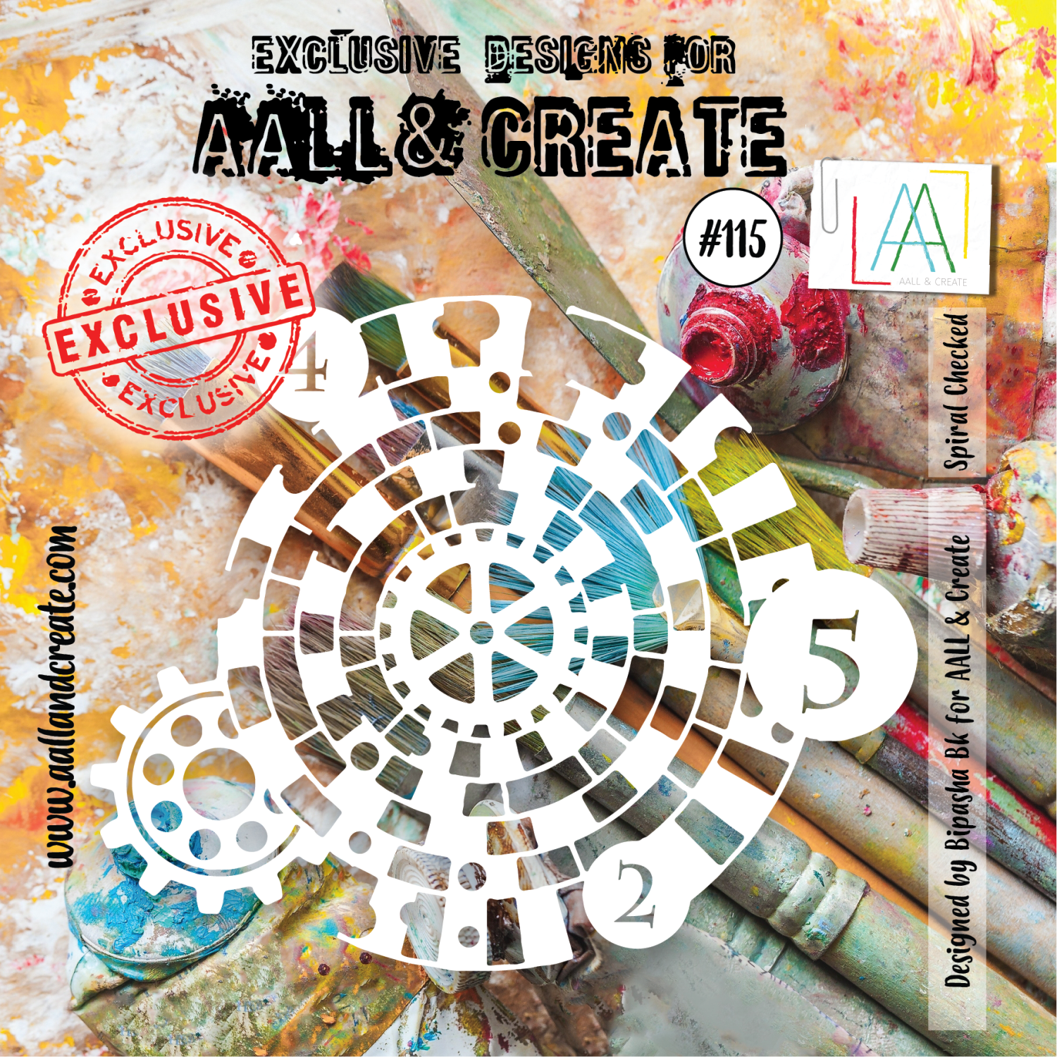 Aall&Create - 6 x 6 - #115 - Spiral Checked