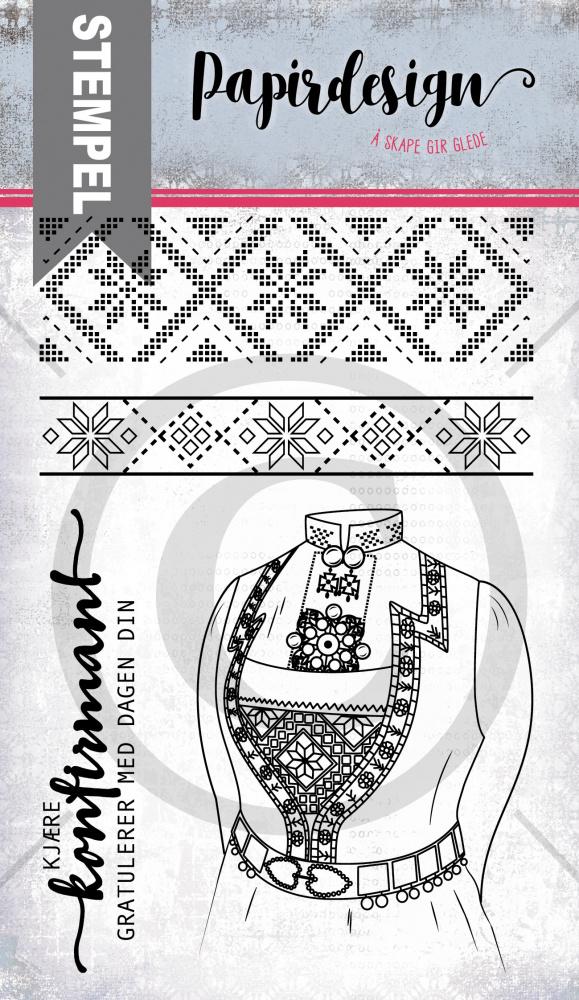 Papirdesign - Bunad fra Vest - PD19106