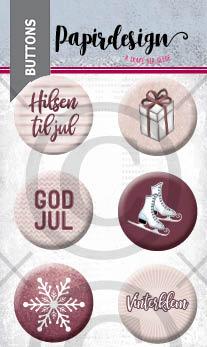 Papirdesign - Buttons - God jul 4 - PD 2000466