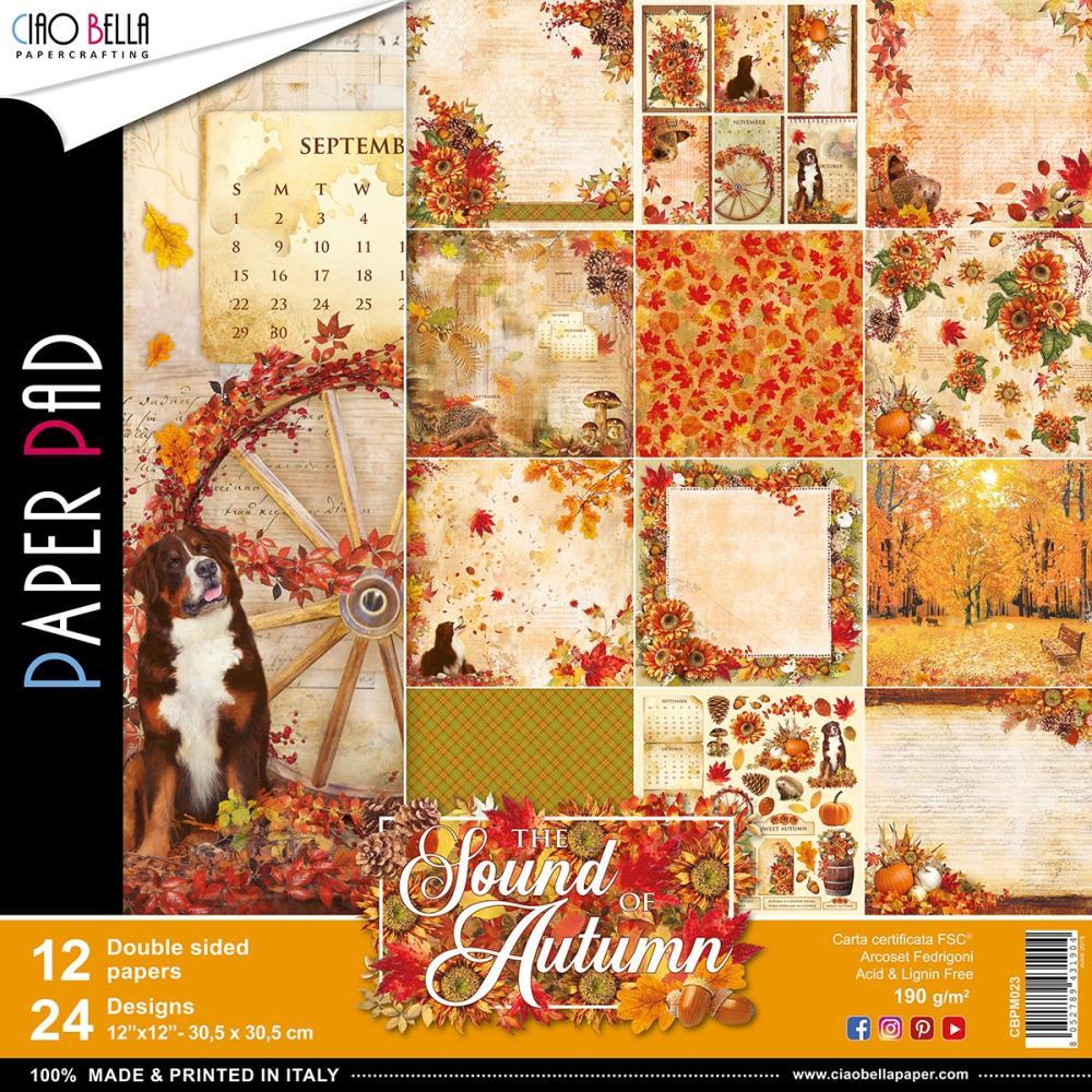 "CIAO BELLA -The Sound of Autumn - PAPER PAD (12) - 12 X 12"""