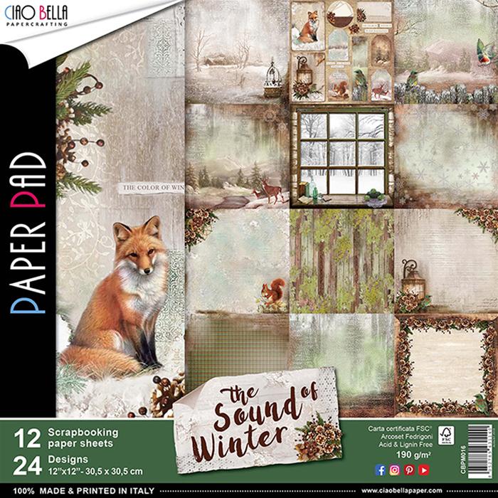 "CIAO BELLA -The sound of Winter - PAPER PAD (12) - 12 X 12"""