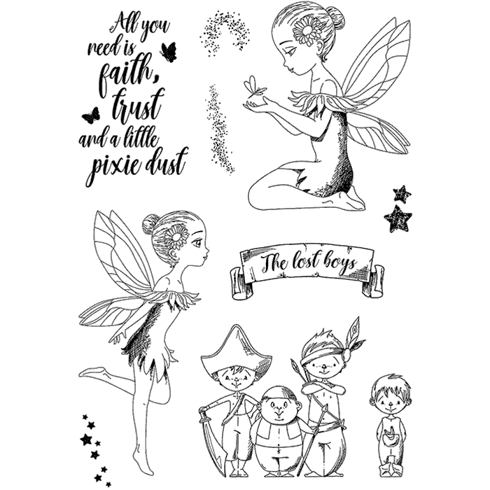 "Ciao Bella - Tinker Bell and the Lost Boys - CLEAR STAMP SET 4""X6"" -"