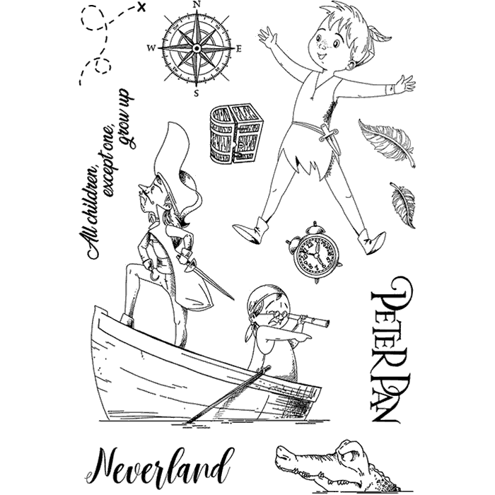 "Ciao Bella - Peter Pan - CLEAR STAMP SET 4""X6"" -"