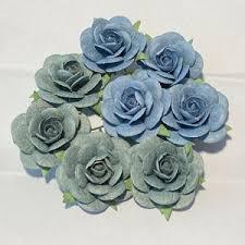 Papirdesign - Roser 1,8 cm Vintage Blå