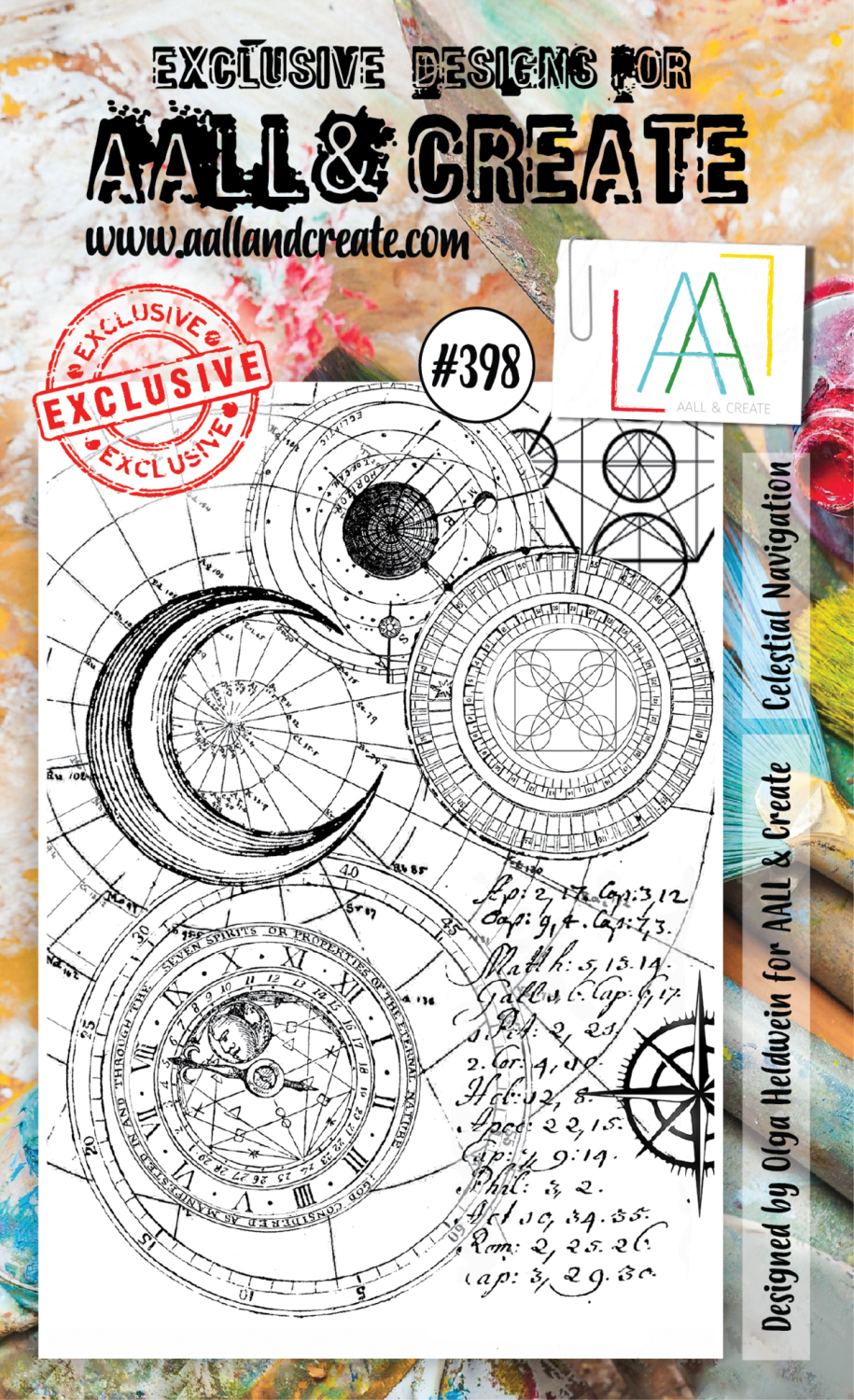 AAll&create - A6 STAMPS - Celestial Navigation - #398