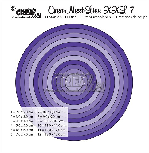 Cirkel CLNestXXL07- Crealies