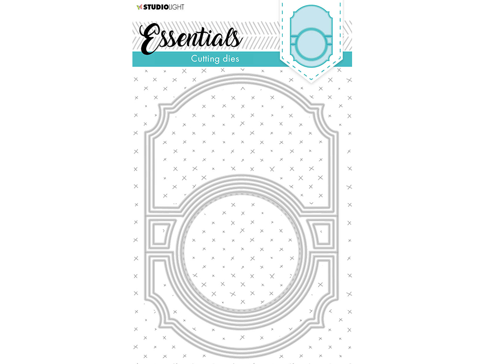 Studio Light Die – Essentials Cardshape Flip it Round 370