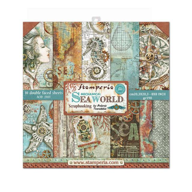 Stamperia -  SEA WORLD -8 x 8