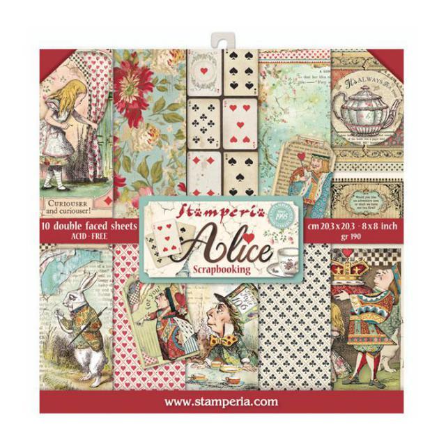Stamperia  - 8 x 8- Alice