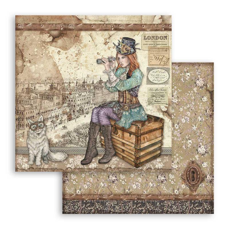 Stamperia  - Lady Vagabond and cat