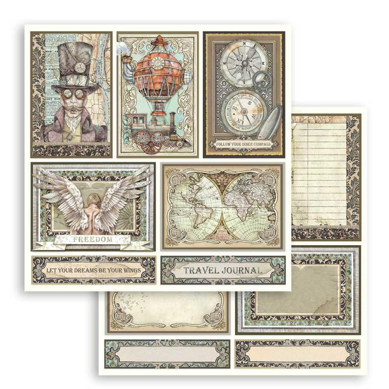 Stamperia  -Sir Vagabond  cards 12 x 12
