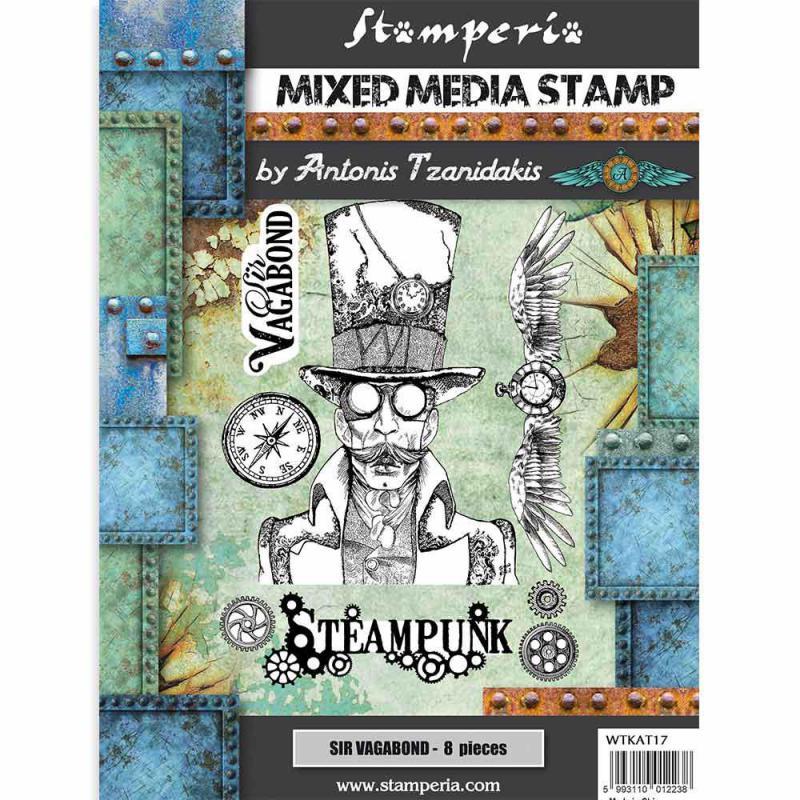 Stamperia  - Sir Vagabond  Stempel - Steampunk