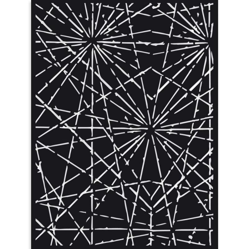 Stamperia Thick Stencil 15 x 20 cm Sir Vagabond cracks