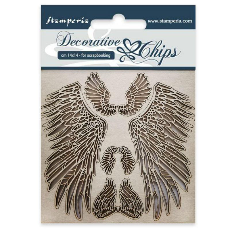 Stamperia - Decorative chips cm 14x14 Wings